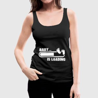 Funny Pregnant T Shirt Baby Loading - Women's Premium Tank Top