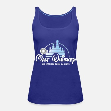 Whiskey Malt Whiskey The Happiest Drink On Earth - Women's Premium Tank Top