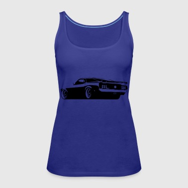 Mustang Rear - Women's Premium Tank Top