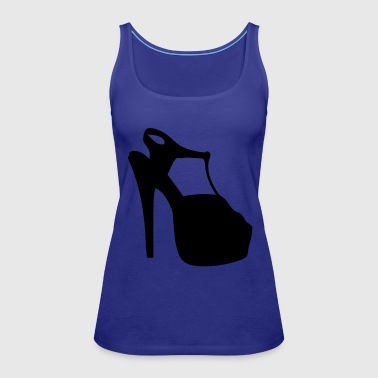 Vector highheels Silhouette - Women's Premium Tank Top