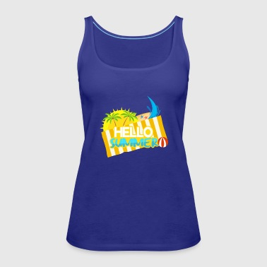Lettering sun and beach umbrella - Women's Premium Tank Top