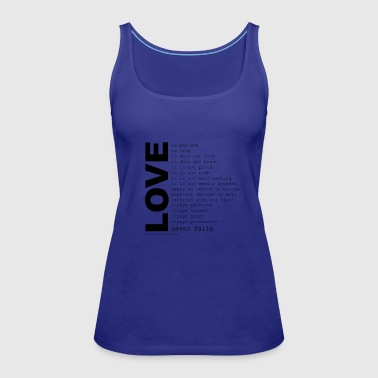Quote corinthians cool quotes - Women's Premium Tank Top