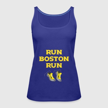 Run Boston Run Running Marathon - Women's Premium Tank Top