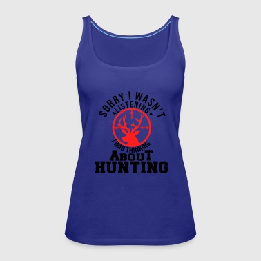 Thinking About Hunting Rifle Antler Gift Idea - Women's Premium Tank Top