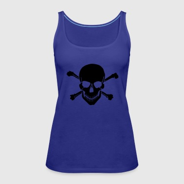 Pirate skull Cross Bones - Women's Premium Tank Top