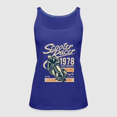 Scooter Racer - Women's Premium Tank Top