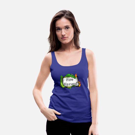 Fire Fighter Tank Tops - Fire Hazard - Women's Premium Tank Top royal blue