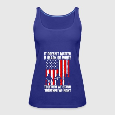 USA Flag Veteran Together we fight - Women's Premium Tank Top