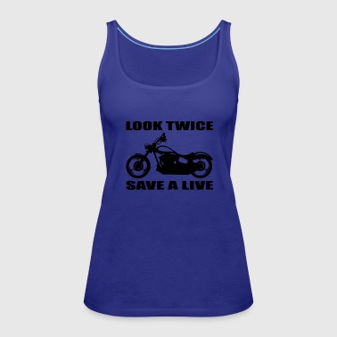 Look twice save a life 01 - Women's Premium Tank Top
