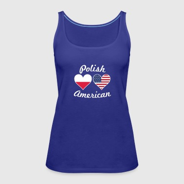 Polish American Flag Hearts - Women's Premium Tank Top