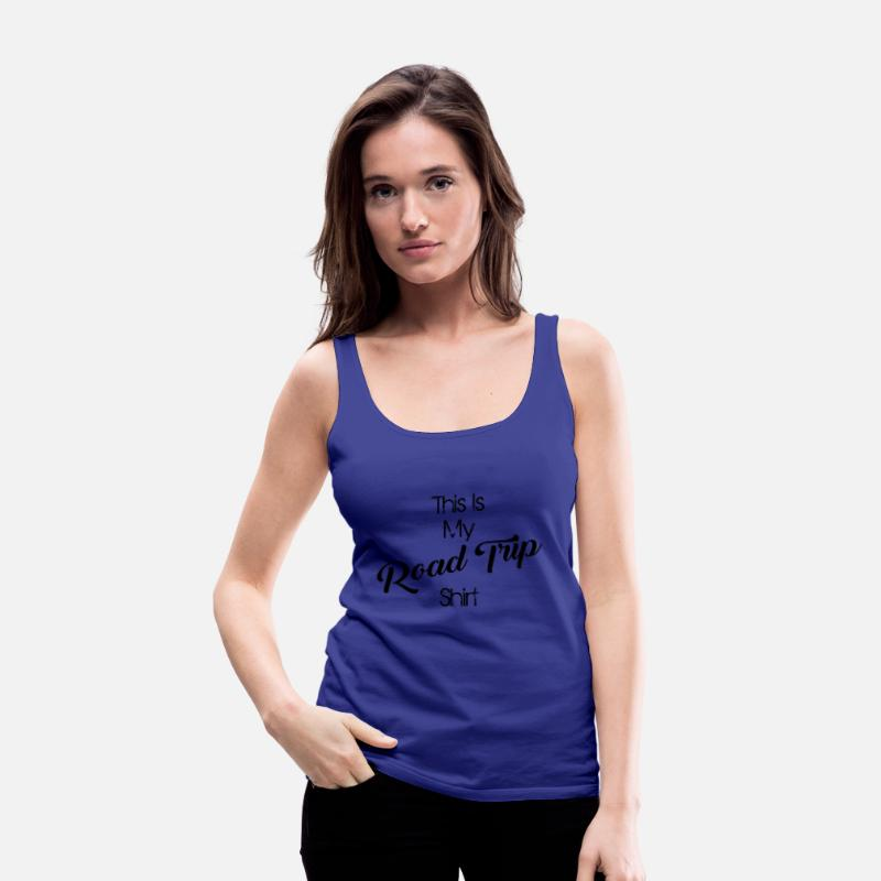 Road Construction Tank Tops - road trip - Women's Premium Tank Top royal blue