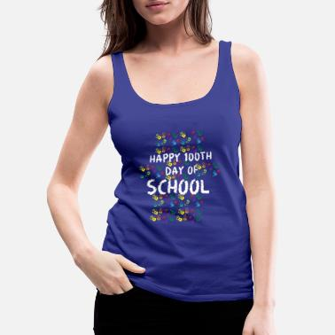 First Day Of School Happy 100th Day of School for Elementary Students - Women's Premium Tank Top