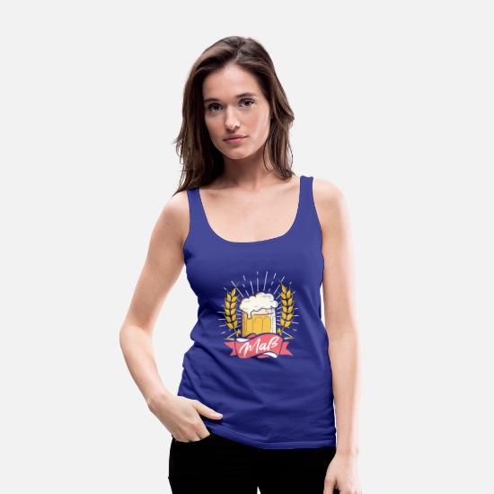 German Tank Tops - Oktoberfest Bier - Women's Premium Tank Top royal blue