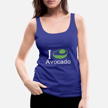 I Love I love Avocado - Women's Premium Tank Top