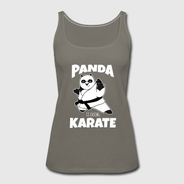 panda is doing karate gift present - Women's Premium Tank Top