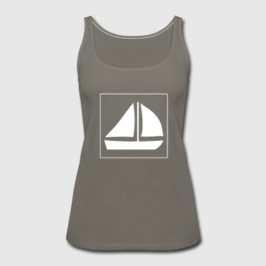 Sailing Sail Boat with two sails - Women's Premium Tank Top