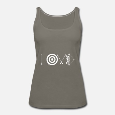 Archery Love Archery Made of Arrows, Target, Bow - Women's Premium Tank Top