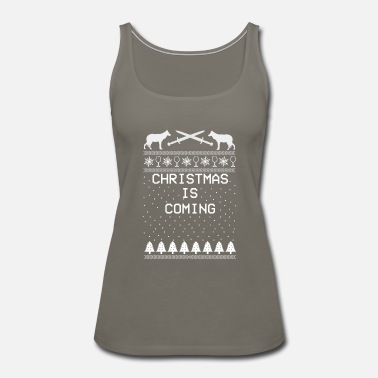 Valentine's Day Christmas is Coming X-mas Ugly Christmas - Women's Premium Tank Top