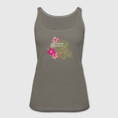 Tropical flowers - Women's Premium Tank Top
