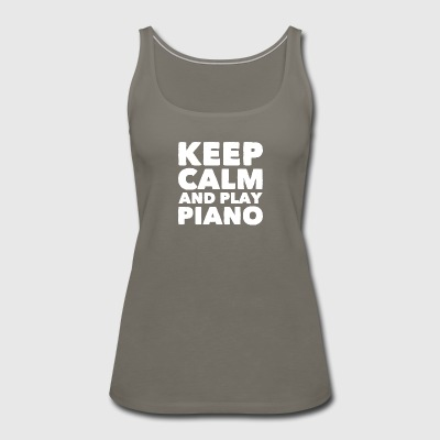 Keep calm and play piano - Women's Premium Tank Top