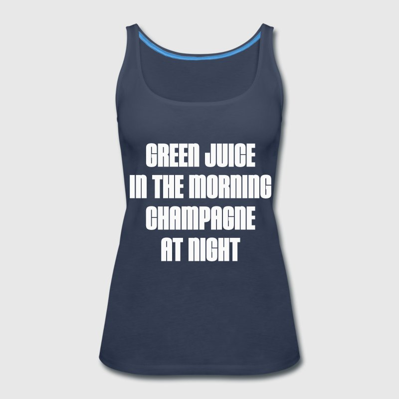 GREEN JUICE AND CHAMPAGNE - Women's Premium Tank Top