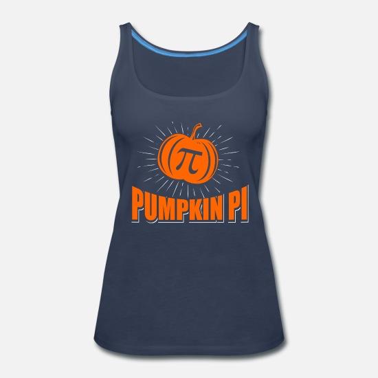 ba1bb9b8040 Funny Pumpkin Pi Halloween Costume Math Pun Women's Premium Tank Top ...