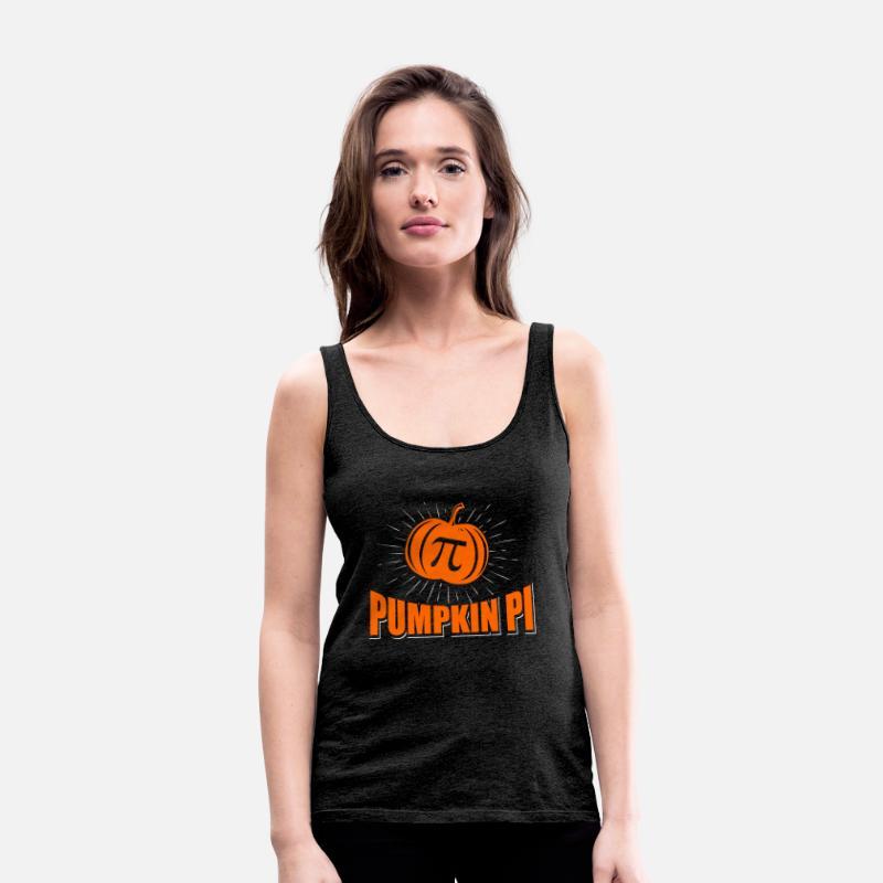 78e0782195d Funny Pumpkin Pi Halloween Costume Math Pun Women's Premium Tank Top    Spreadshirt