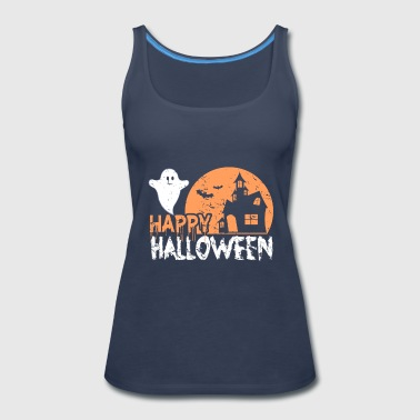 Happy Halloween skull funny gift scary - Women's Premium Tank Top