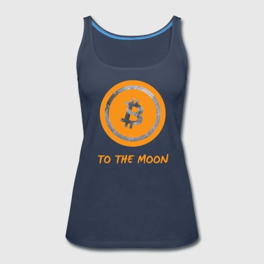 Bitcoin to the moon - Women's Premium Tank Top
