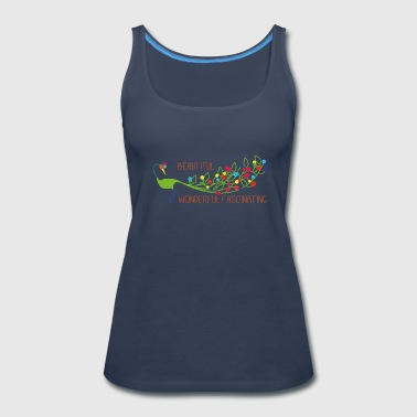 Peacock pfau beautiful wonderful fascinating - Women's Premium Tank Top