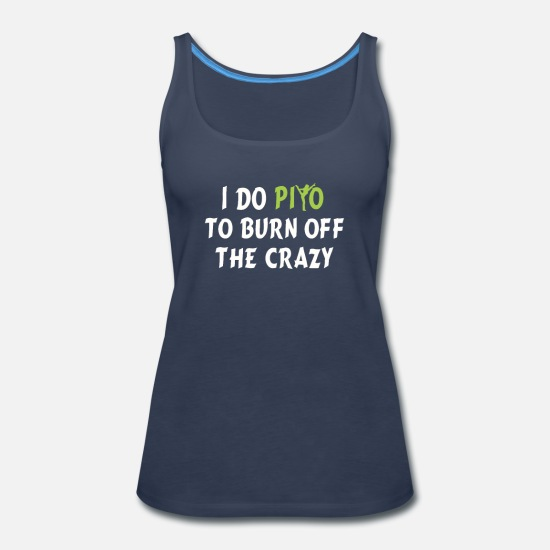I Do Yoga to Burn Off The Crazy X-Large Navy Funny Workout Racerback Tank Top
