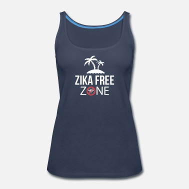 Trinidad And Tobago Zika T-Shirt - Caribbean Virus Free Zone - Women's Premium Tank Top