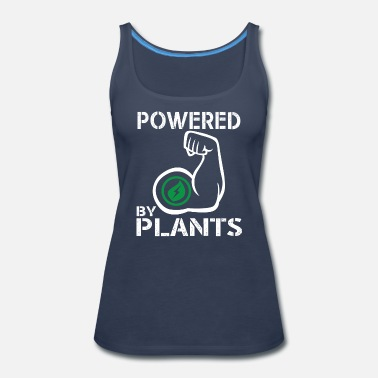Vegan Bodybuilding Vegan Powered By Plants - Strong Vegan Shirt for Bodybuilders - Women's Premium Tank Top