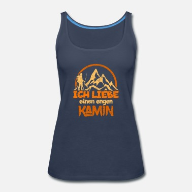 Running Mountain german Mountains climb funny gift - Women's Premium Tank Top