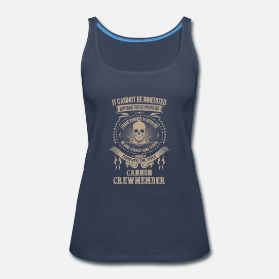 Waluigi Tank Tops - Cannon crewmember-I own it forever the title - Women's Premium Tank Top navy
