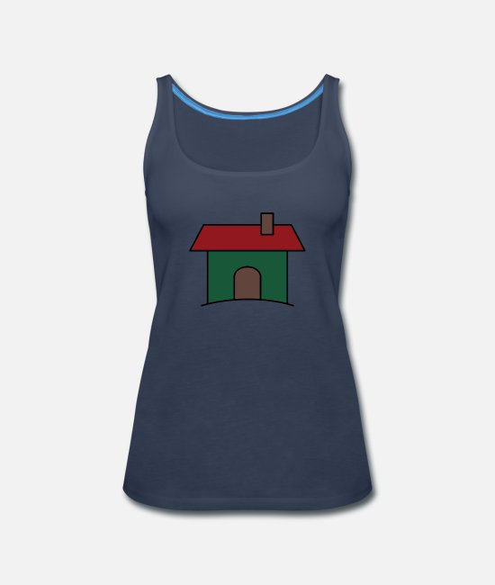 Christmas Tank Tops - House - Women's Premium Tank Top navy