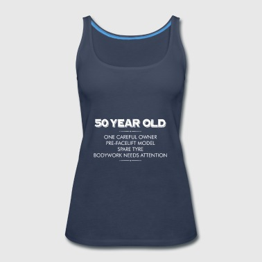 50 Year Old One Careful Owner Funny Christmas T Sh - Women's Premium Tank Top
