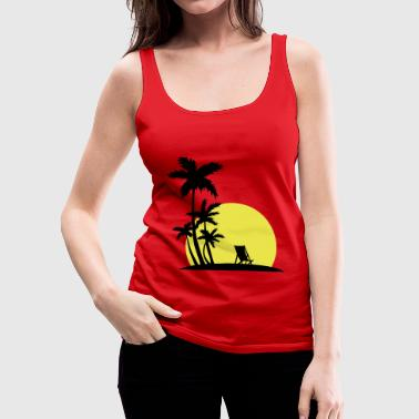 Paradise - Sunset and palm trees - Women's Premium Tank Top