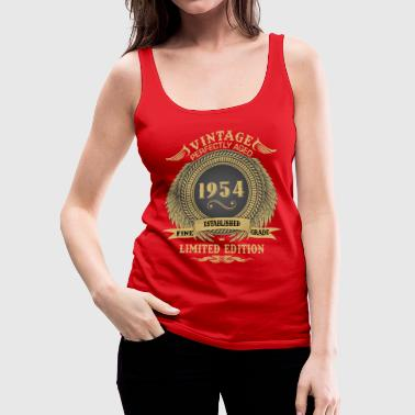 Vintage Perfectly Aged 1954 Limited Edition - Women's Premium Tank Top