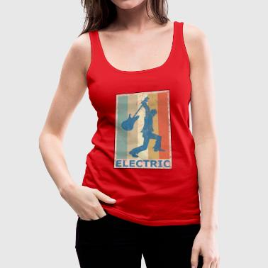 Retro Vintage Style Electric Guitar Player - Women's Premium Tank Top