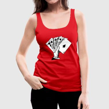 Royal Flush Vintage Illustration - Women's Premium Tank Top