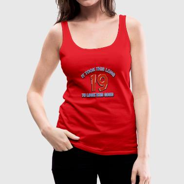 19th birthday designs - Women's Premium Tank Top