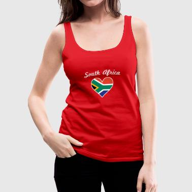 South Africa Flag Heart - Women's Premium Tank Top