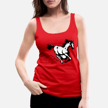Gallop Galloping horse - Women's Premium Tank Top