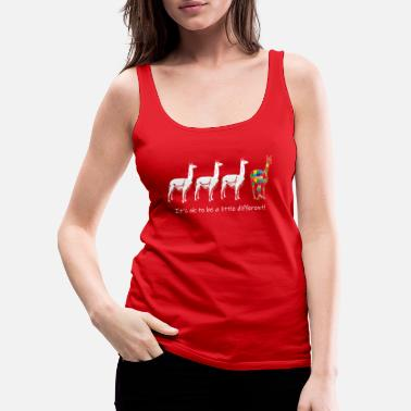 Different It_s OK To Be A Little Different Autism Alpaca - Women's Premium Tank Top