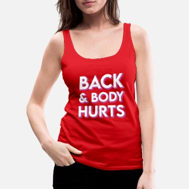 Best Nana Funny Back And Body Hurts Workout Meme Parody Vint - Women's Premium Tank Top