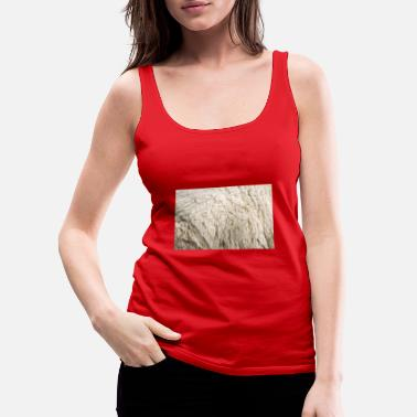 Close up to natural sheep's fluffy wool - Women's Premium Tank Top