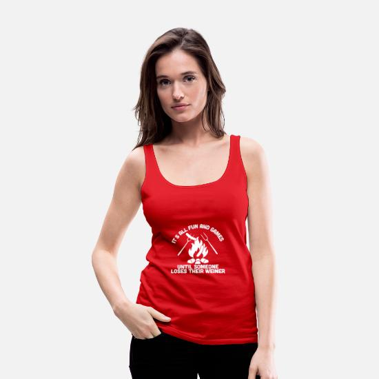 Movie Tank Tops - LOSES A WEINER funny - Women's Premium Tank Top red