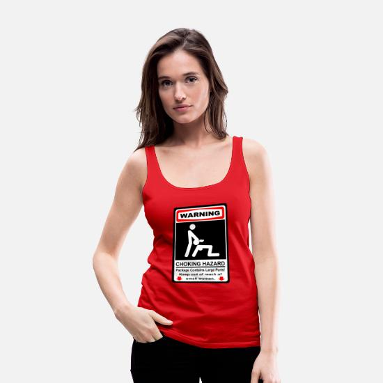 Hazard Tank Tops - WARNING CHOKING HAZARD - Women's Premium Tank Top red