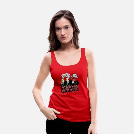 Kita Tank Tops - Day of the Undead - Women's Premium Tank Top red